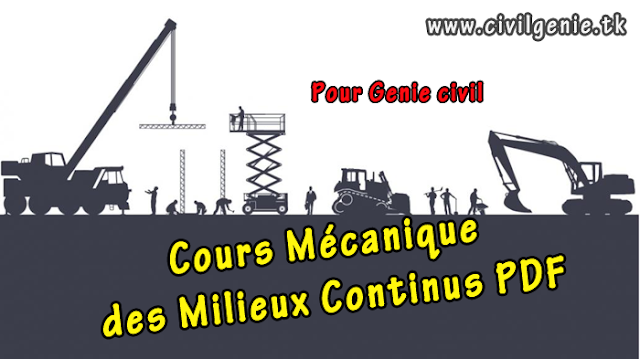 cours m u00e9canique des milieux continus pdf