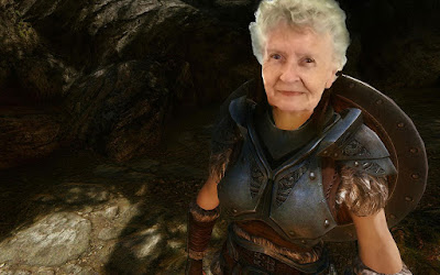 80歲奶奶不聽廣播、不養貓,玩《上古卷軸》開直播