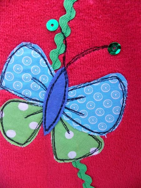 Schmetterlingsapplikation/ Amelieschnittmuster