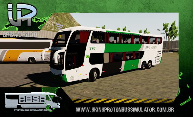 Skin Proton Bus Simulator - G6 1800 Scania K124 Viação Real Norte