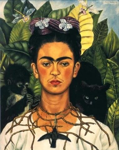Autorretrato com Colar de Espinhos - Frida Kahlo e suas pinturas ~ Pintora comunista e revolucionária