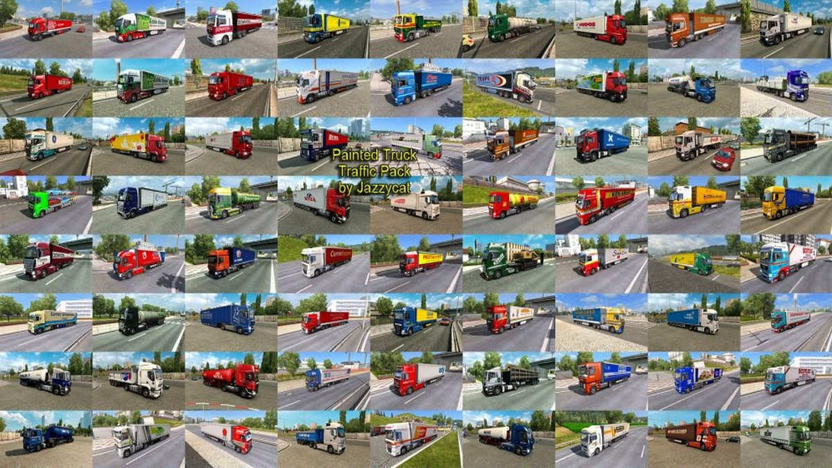 Jazzycat – Painted Truck Traffic Pack 5.3