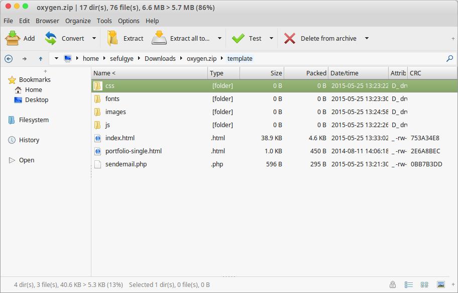PeaZIP Linux Archiver Program Equivalent to Winrar WinZip
