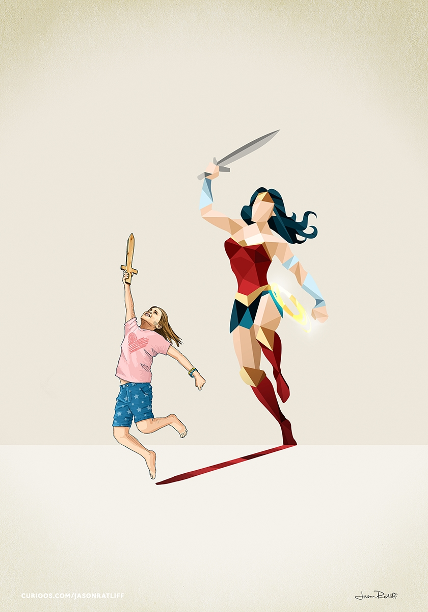04-Wonder-Woman-Diana-Prince-Jason-Ratliff-Comic-Book-Heroes-in-Super-Shadows-II-Illustrations-www-designstack-co