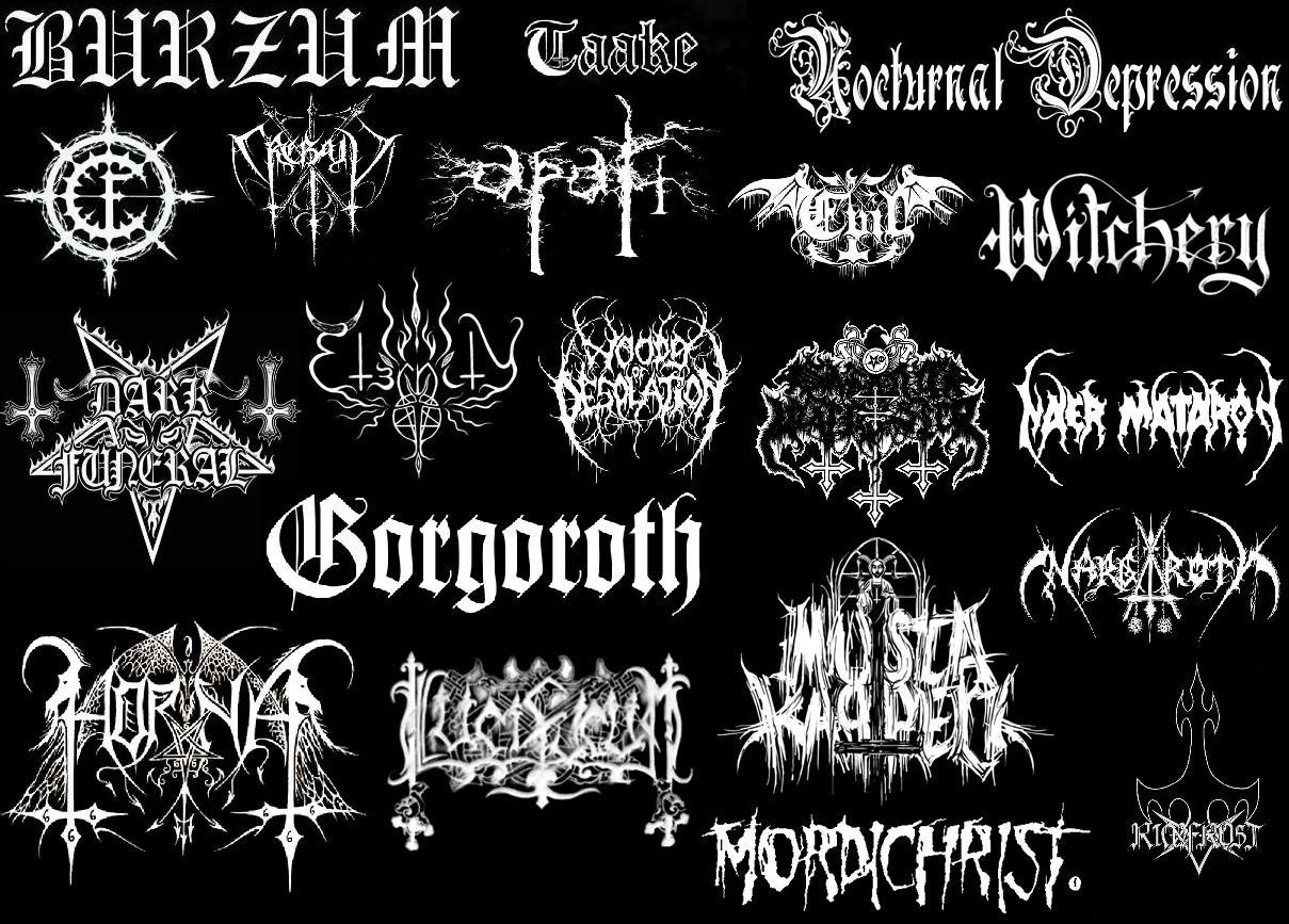 illegible black metal logo - photo #32