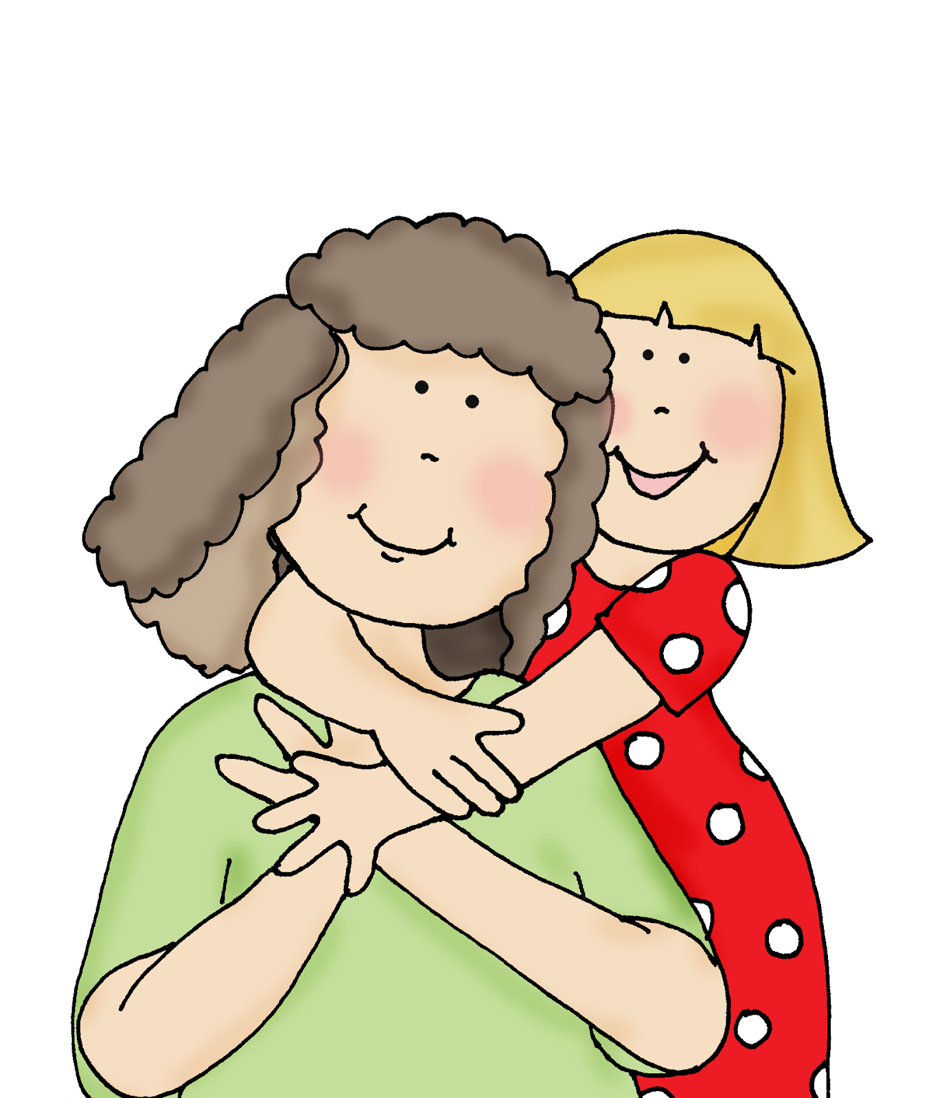 clipart mother and daughter - photo #42