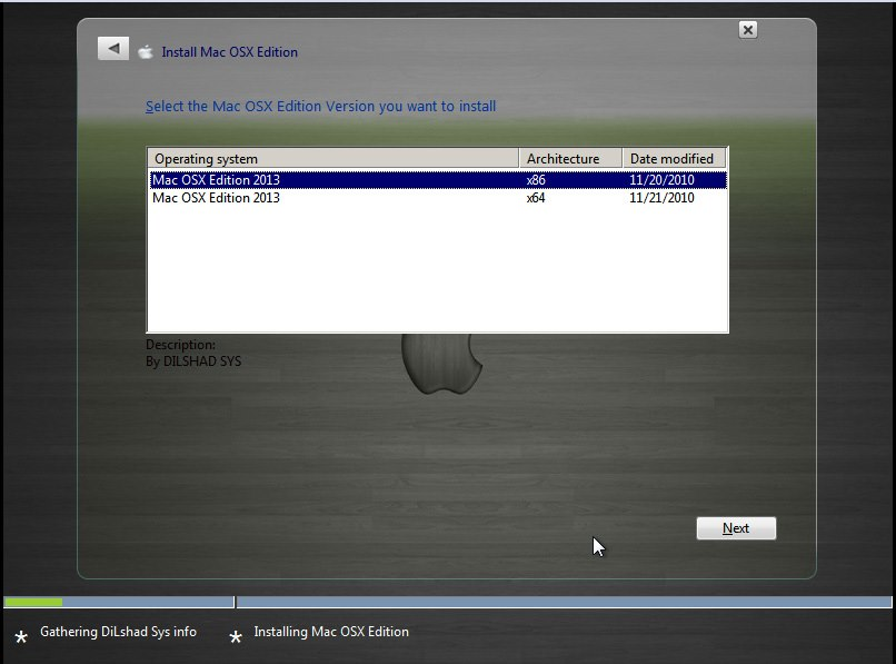 Windows 7 Mac Osx Edition 2013 X86 X64 Dilshad Sys