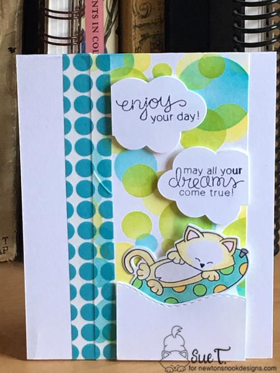 May all your dreams come true by Sue features Newton's Summer Vacation, Bokeh, and Sea Borders by Newton's Nook Designs; #newtonsnook