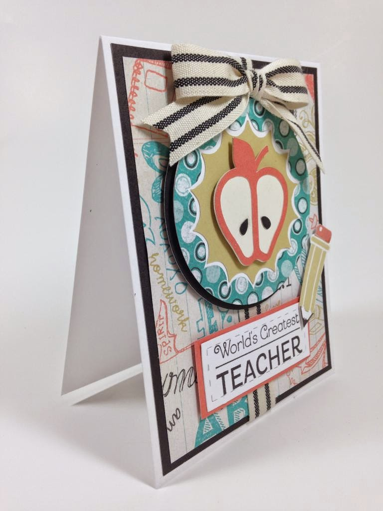 Cricut Artbooking Teacher card side view