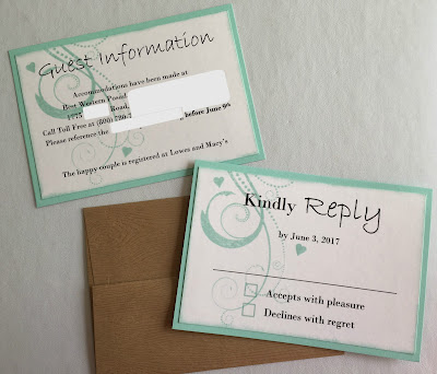 wedding reply cards hand stamped