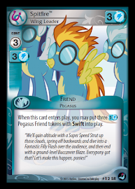 My Little Pony Spitfire, Wing Leader High Magic CCG Card
