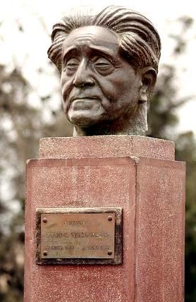 Imagen del rostro de Julio C. Tello (Escultura)