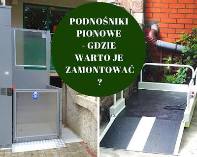Podnośniki pionowe pomagają osobom na wózkach inwalidzkich w pokonywaniu barier architektonicznych.