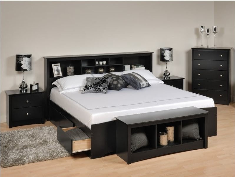 d coration chambre noir et blanc. Black Bedroom Furniture Sets. Home Design Ideas