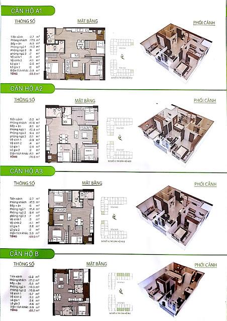 Thiết kế chi tiết căn hộ Ecohome 3 loại 2