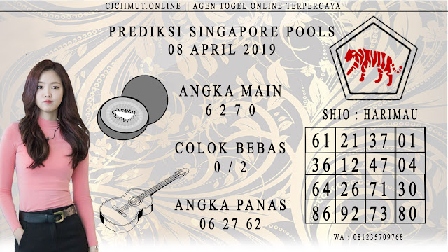 Prediksi Angka Jitu SINGAPORE POOLS 08 APRIL 2019