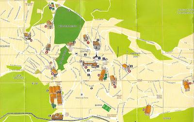 Mapa turístico de Ouro Preto