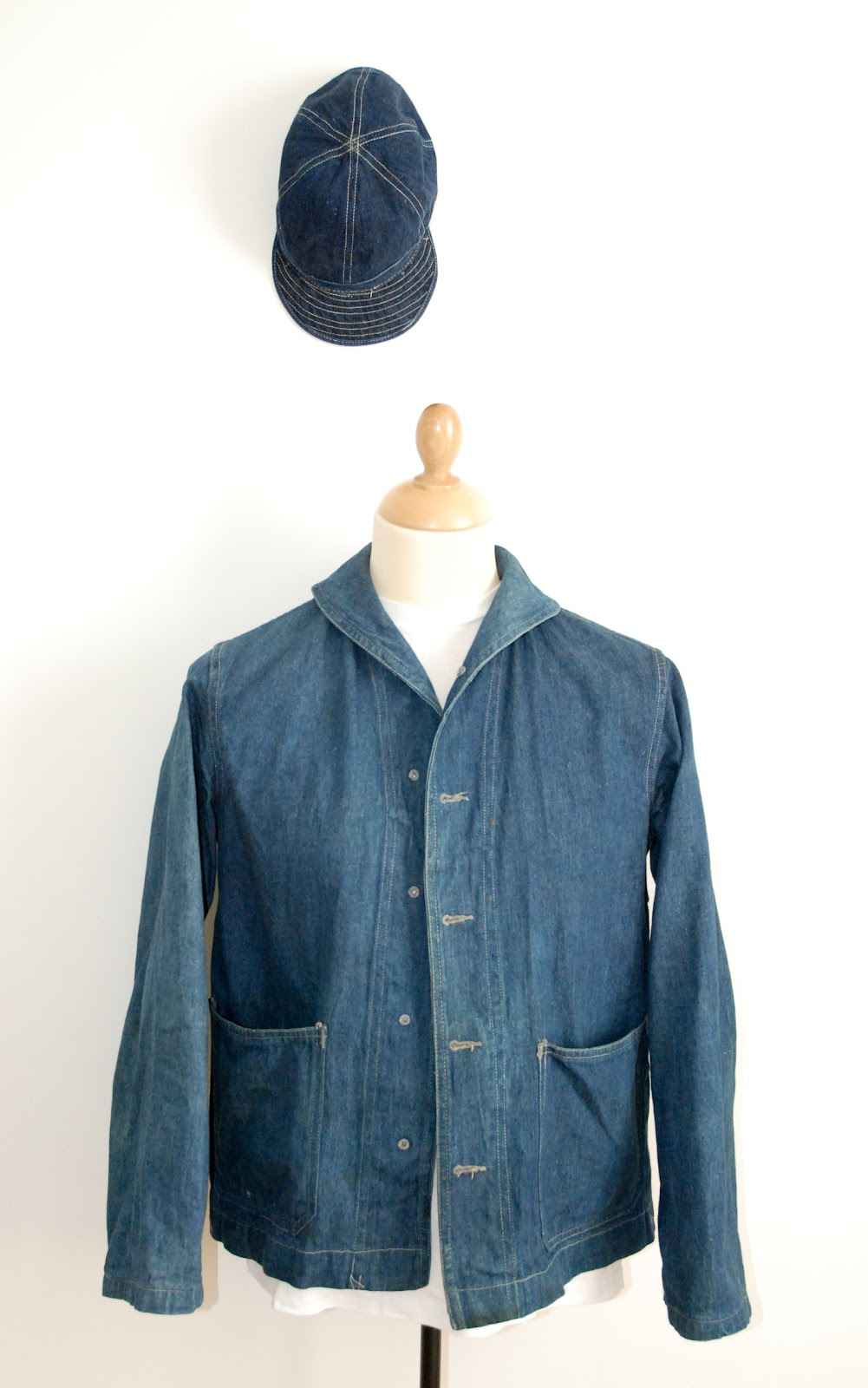 The Vintage Catalogue: 40's USN shawl collar denim jacket