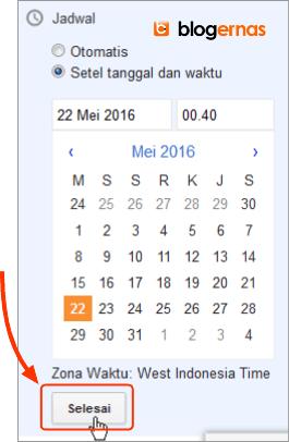 Cara Mengatur Jadwal Postingan pada Entri Baru Blogger