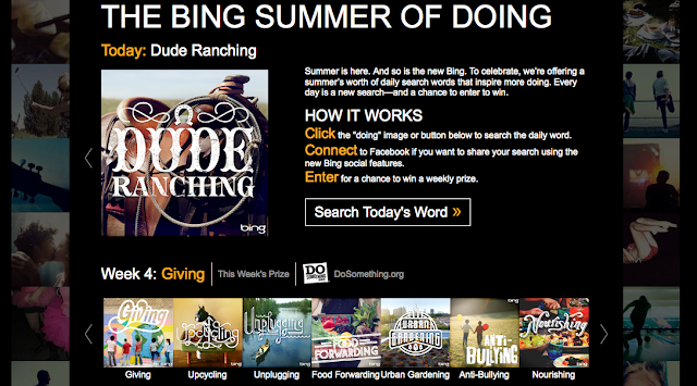 Now It's YOUR Turn to Take Part in The Summer of #Doing with bing - click now
