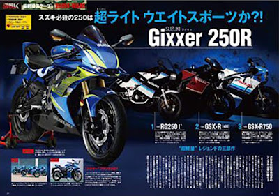 Rendering Suzuki GSX-250R dari Young Machine