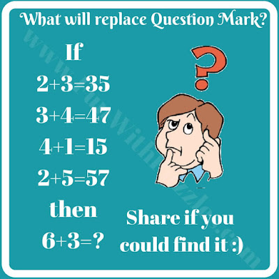 Easy math logic puzzle question for kids