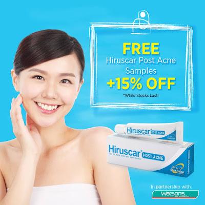 Hiruscar Malaysia Watsons FREE Hiruscar Post Acne 5g