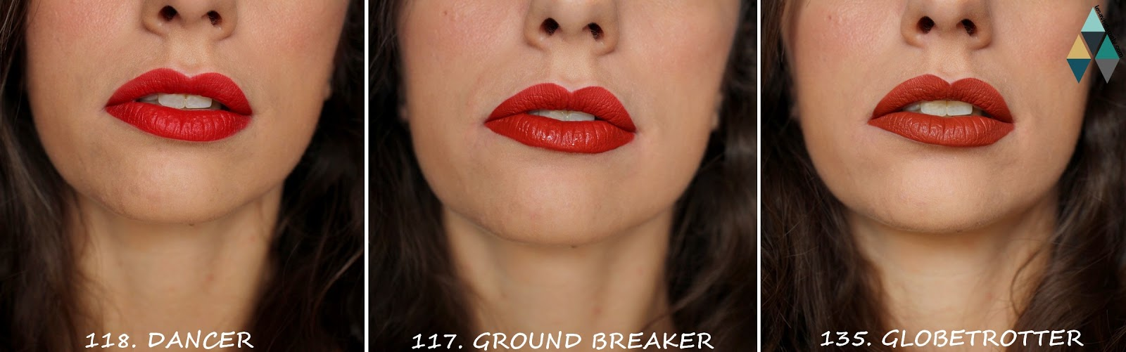 revue et swatches photos encre à lèvres mate longue tenue Maybelline