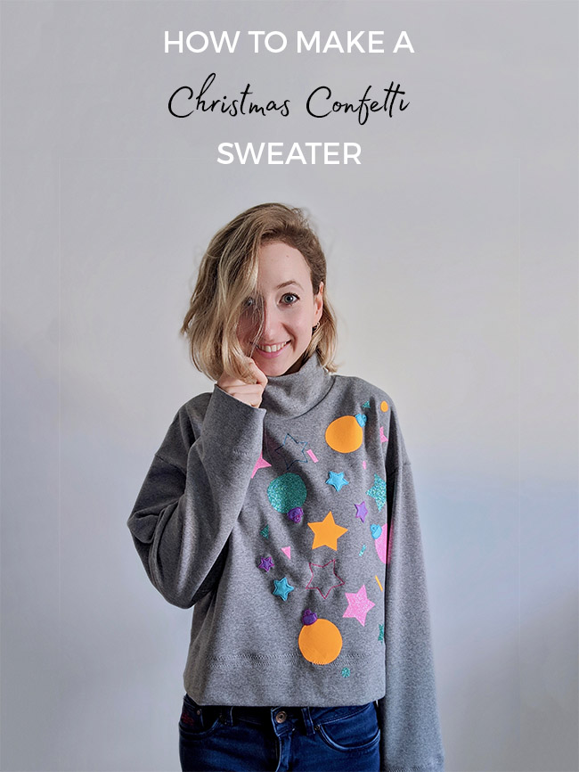 How to Make a Christmas Confetti Sweater with Sew Jessalli and Tilly and the Buttons