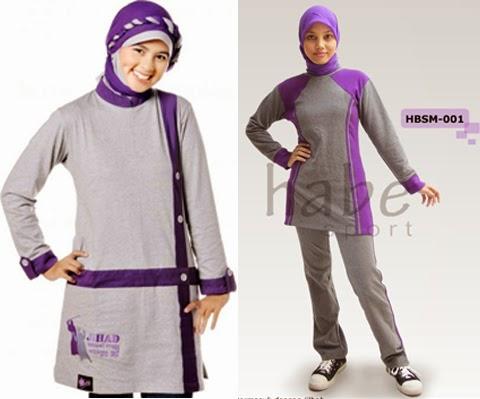 model baju senam muslimah