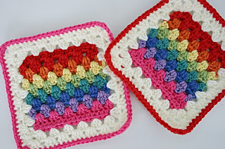 Granny Stripe Squared Crochet Pattern by Susan Carlson of Felted Button