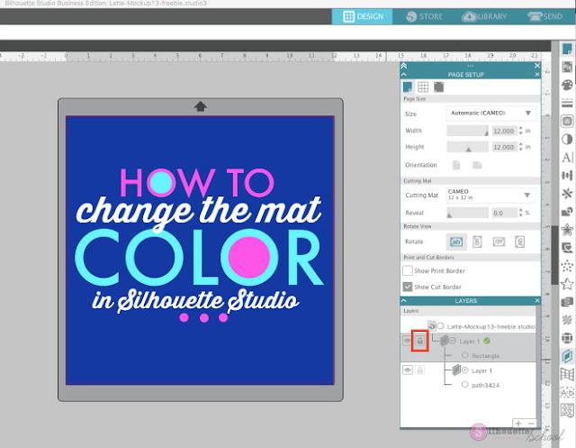 mat color, silhouette design studio, background color, silhouette studio, change background color