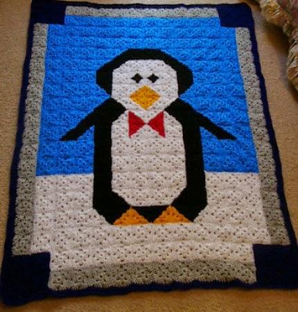 Beautiful Skills Crochet Knitting Quilting Penguin