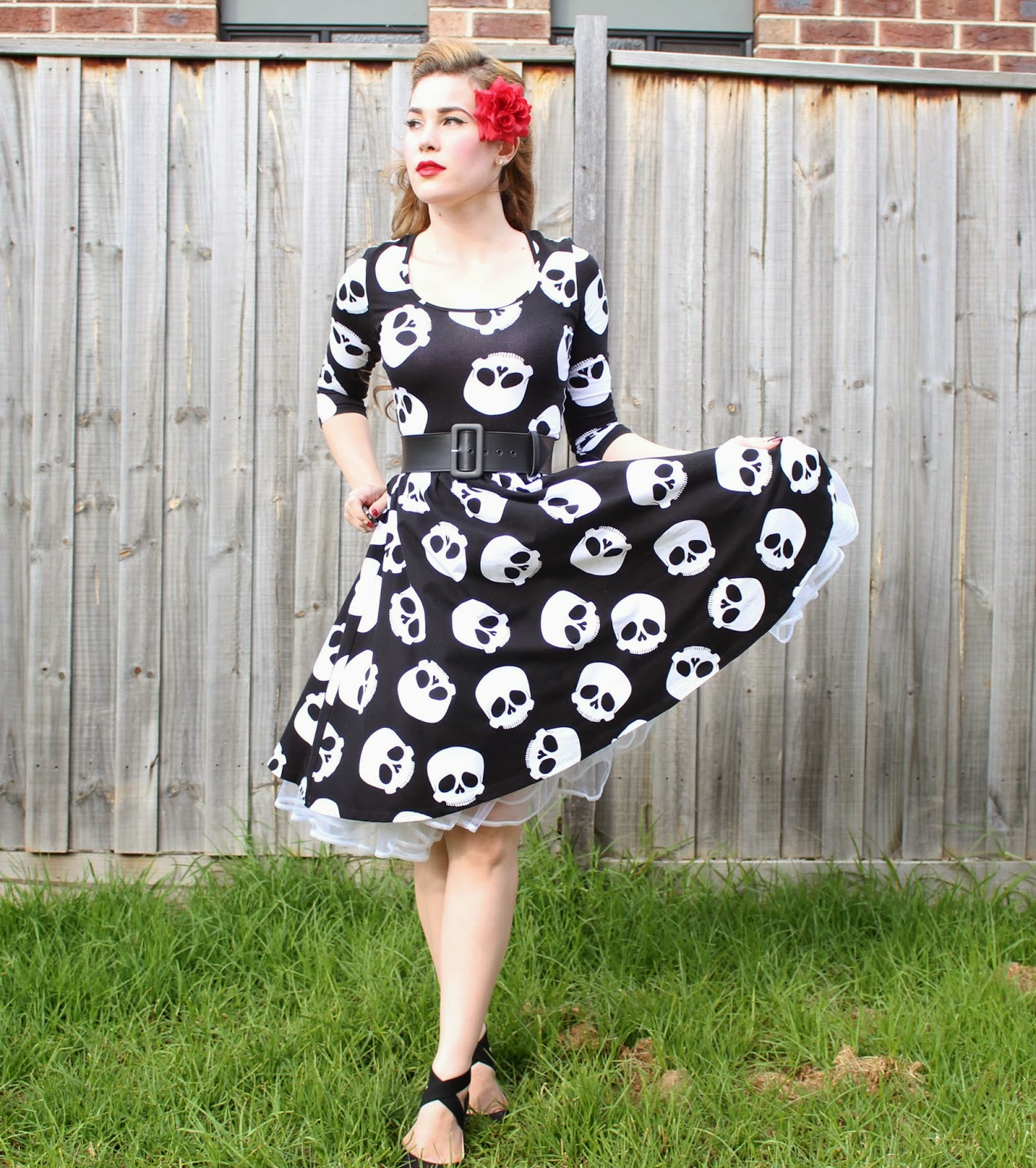 Hotrod Honey Swing Dress By Pinup Girl Clothing