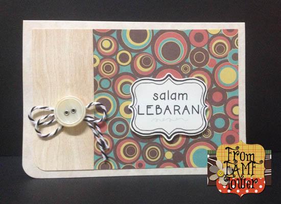 ... kad wood design . Cuma kali ini ditambah dengan butang dan baker's