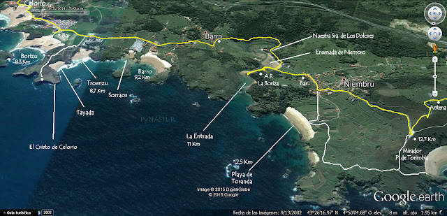 Mapa 2 Senda Costera Llanes a Villahormes