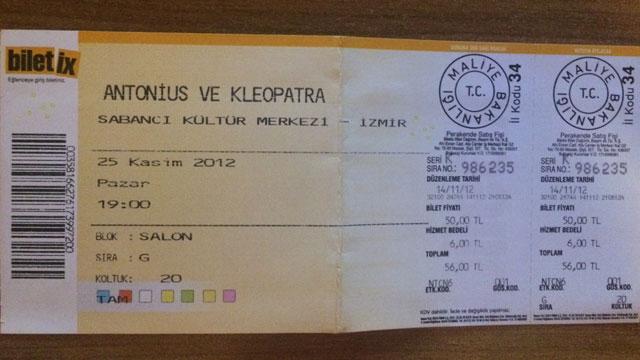 Tiyatro Bileti