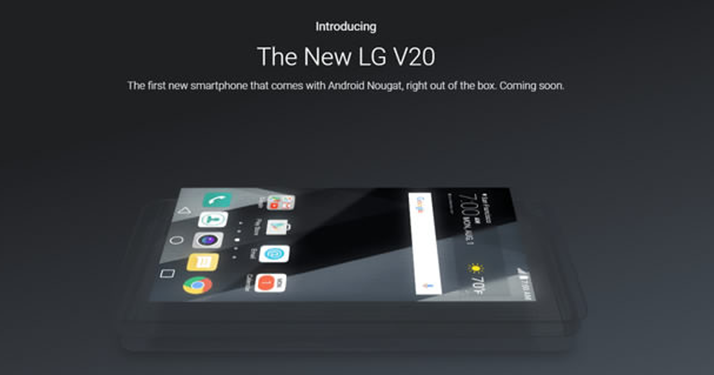 LG V20 Announced As The First Android 7.0 Nougat Phone!