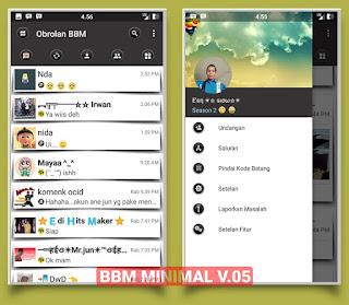 BBM MOD Minimal v3.1.0.13 APK Ringan dan Elegant