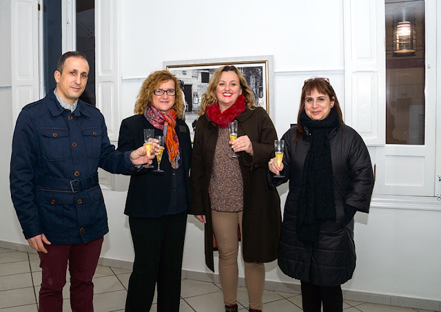 Coordinadora cultura Mª Amparo, 2ª Tte. Alcalde Ana Sala, Angelines y J. Antonio Fontal
