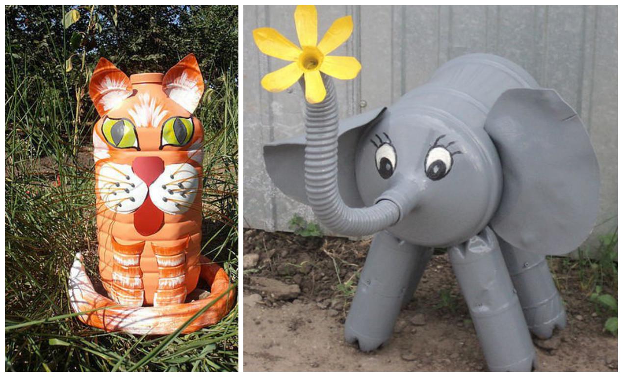 C mo hacer figuras de animales con botellas de pl stico - Como pintar botellas de plastico ...