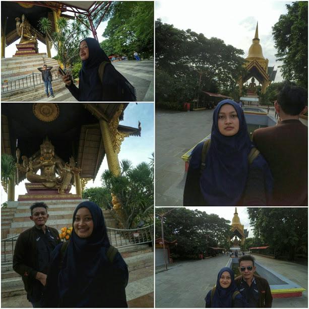 Spot Foto di Kenpark berlatar Patung Budhha 4 Wajah