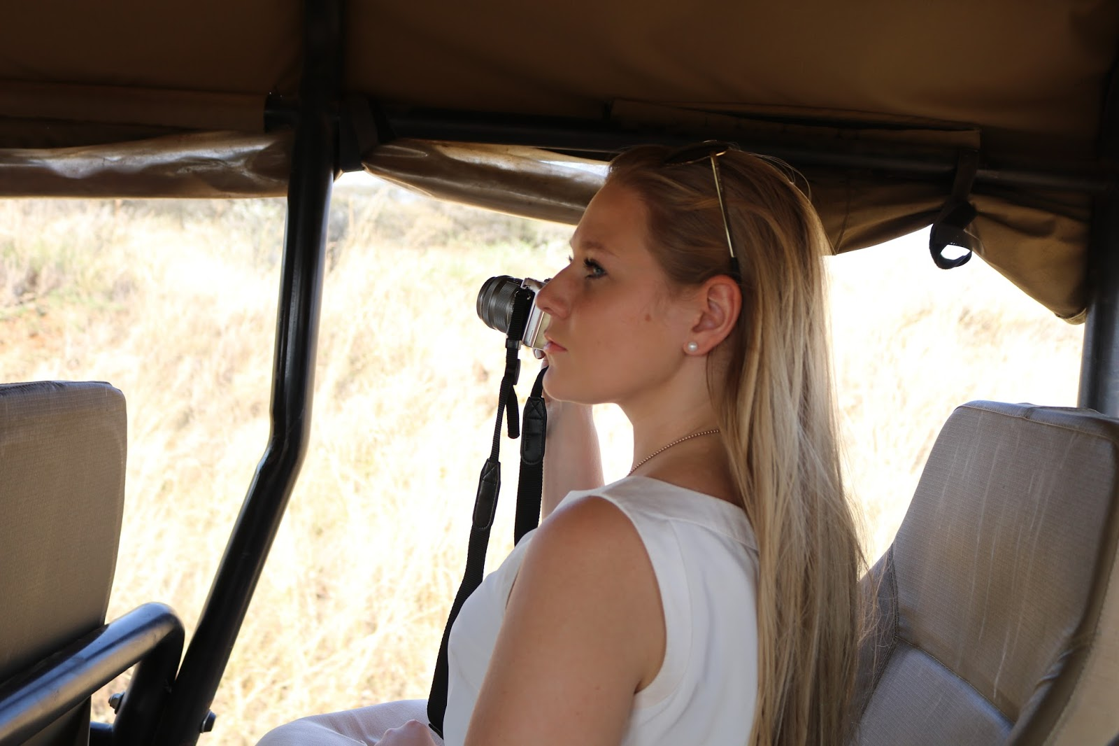Katie Heath in the Spioenkop Game Reserve, South Africa