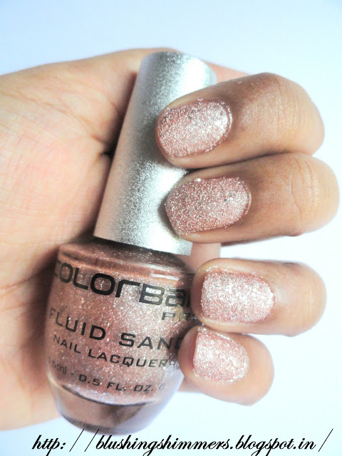 Colorbar Fluid Sand Nail Lacquer 'Love boat'