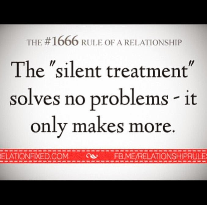 Silent treatment in relationships how to handle