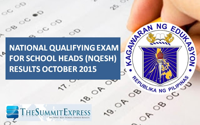 October 2015 NQESH Principals' Test results