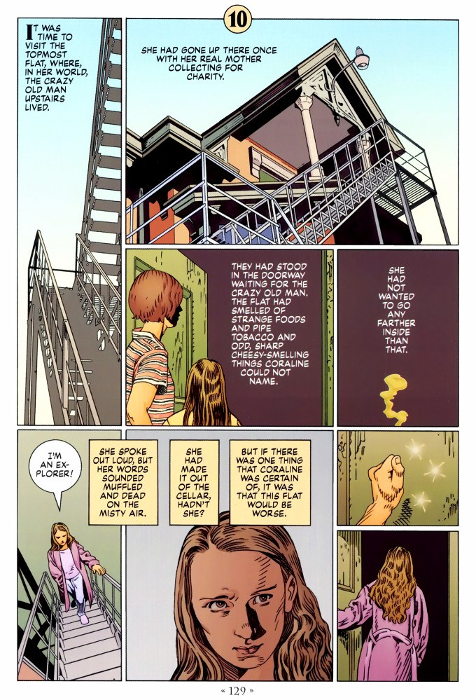 Read page 129, from Nail Gaiman and P. Craig Russell's Coraline graphic novel