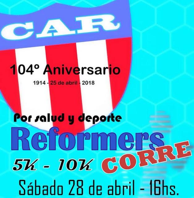 10k y 5k aniversario del Club Atlético Reformers de Juan Lacaze (Colonia, 28/abr/2018)