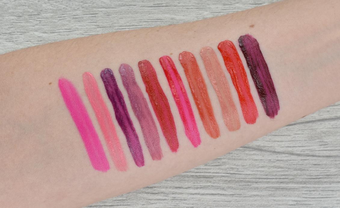 Swatches Rouge Signature Lippenstife von L'Oréal - alle Farben