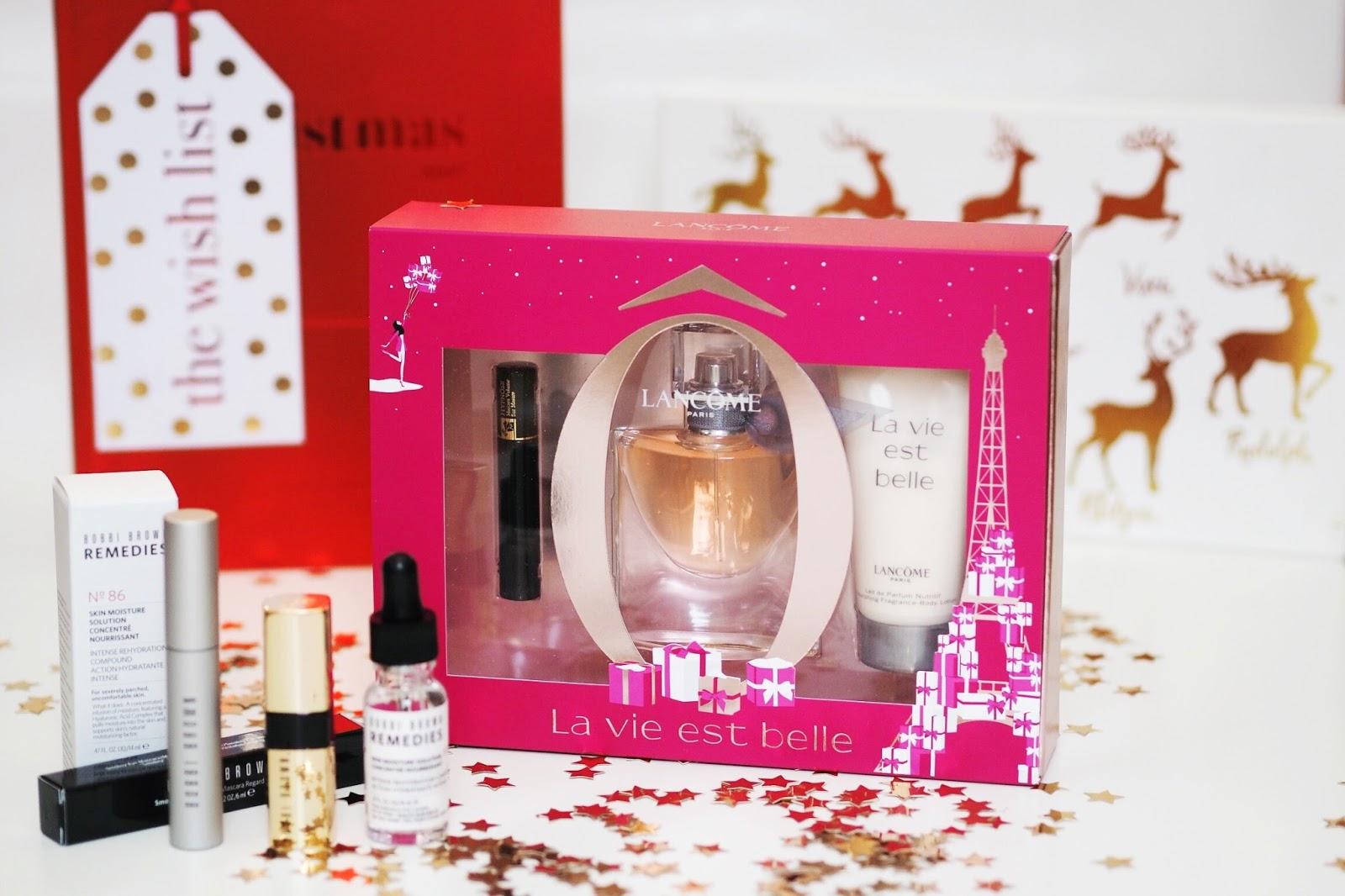 Lancome gift set Bobbi Brown House of Fraser Christmas